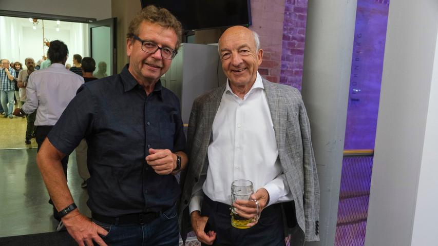 Lokales/Feuilleton..Foto: Günter Distler..Motiv: NN-Kunstpreis 2019; Preisverleihung und Ausstellungseröffnung; 17.09.2019.; ; Peter Ehler und ... Borchardt (?); Mitarbeitportrait