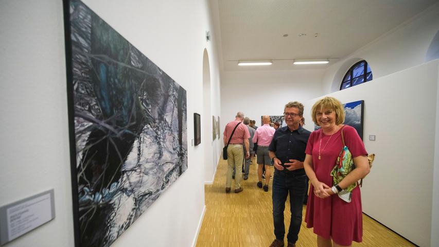 Lokales/Feuilleton..Foto: Günter Distler..Motiv: NN-Kunstpreis 2019; Preisverleihung und Ausstellungseröffnung; 17.09.2019.; Peter Ehler, Karin Winkler, Mitarbeiterportrait