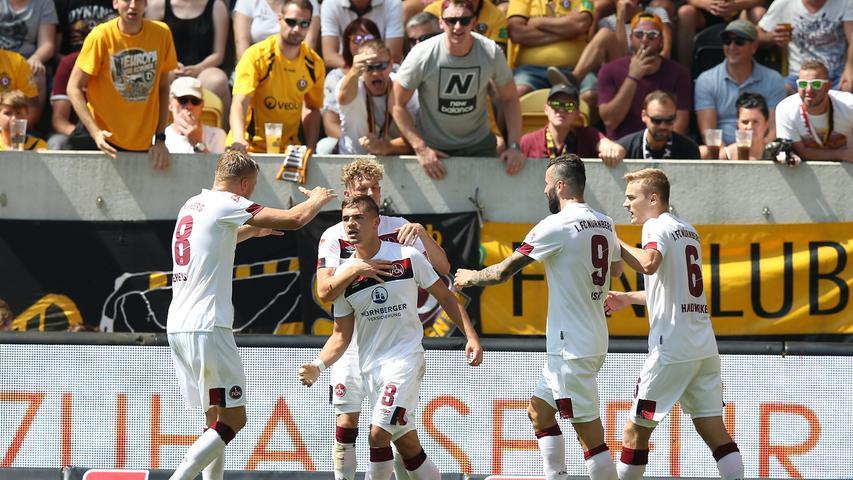 Der Club in der Einzelkritik: Quirlig, überfordert und couragiert in Dresden