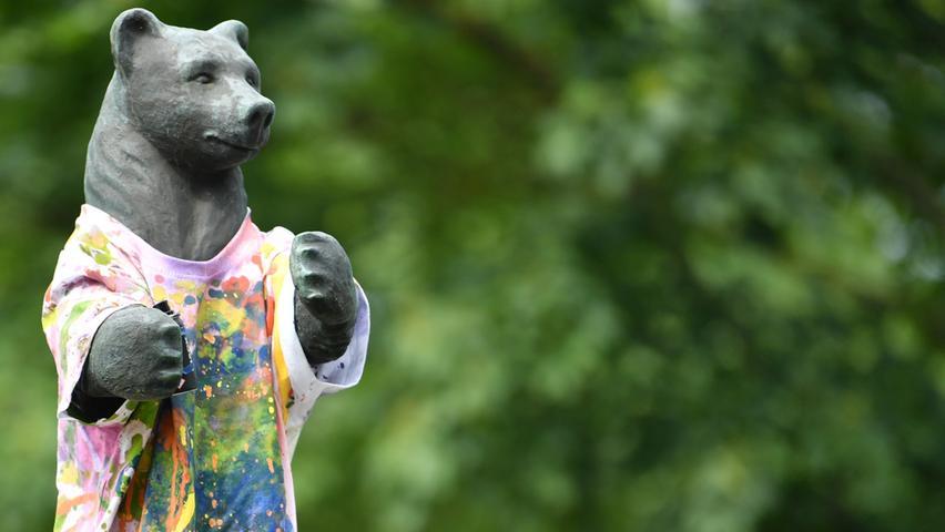 Man hätte es ahnen können: Auch der Berlin-Bär hat eine künstlerische Ader.