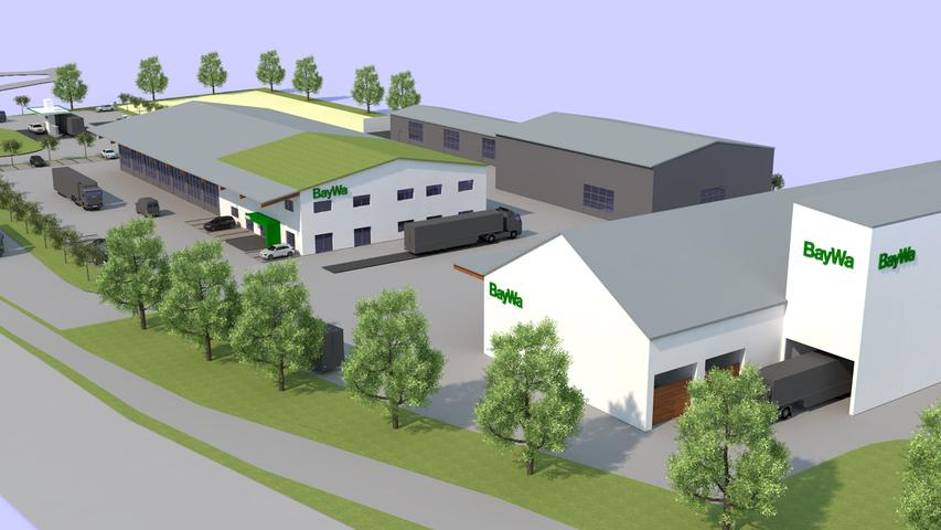 Der geplante BayWa-Standort in Forchheim im Überblick