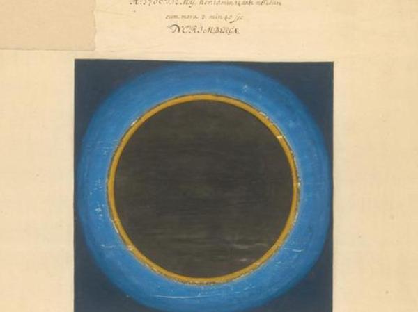 Das Gemälde einer Sonnenfinsternis von Maria Clara Eimmart.
