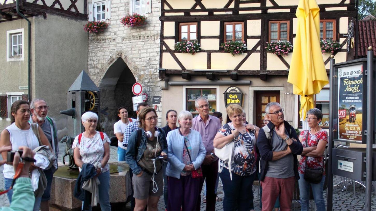 Die Gäste aus Savigny (Frankreich) wurden in Berching willkommen geheißen. Während ihres Aufenthalts wohnen sie bei Gastfamilien.