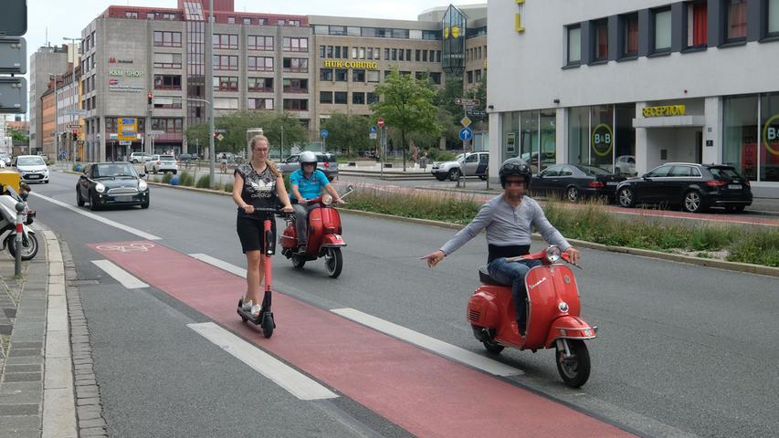 Praxistest: Mit dem E-Scooter durch Nürnberg