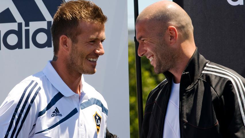 Zwei Fußballlegenden -  ein Dreamteam: David Beckham und Zinédine Zidane traten in den letzten Jahren immer wieder gemeinsam in den unterschiedlichsten Werbespots für Adidas auf.
