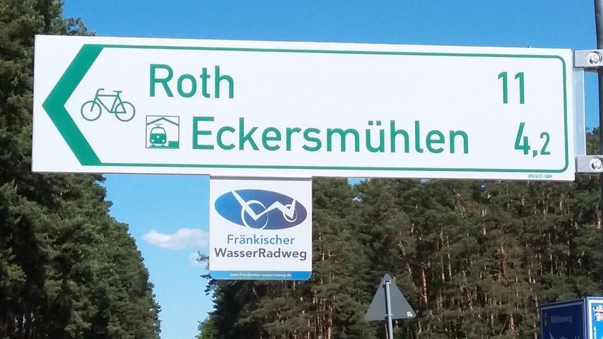 Roth Wasserradweg Urlaub vor der Haustür 010819 Carola Scherbel