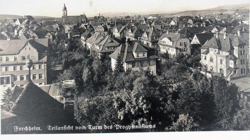 Historisches Forchheim: Blick vom Progymnasium in der Luitpoldstraße 1930