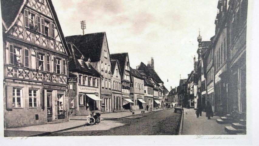 Historisches Forchheim: Hauptstraße in nördliche Richtung um 1920