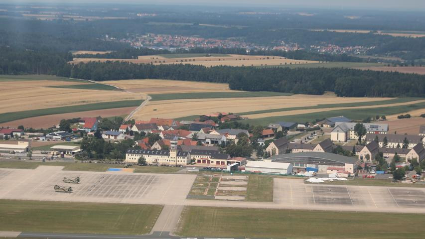 Flugfeld der Kaserne in Katterbach