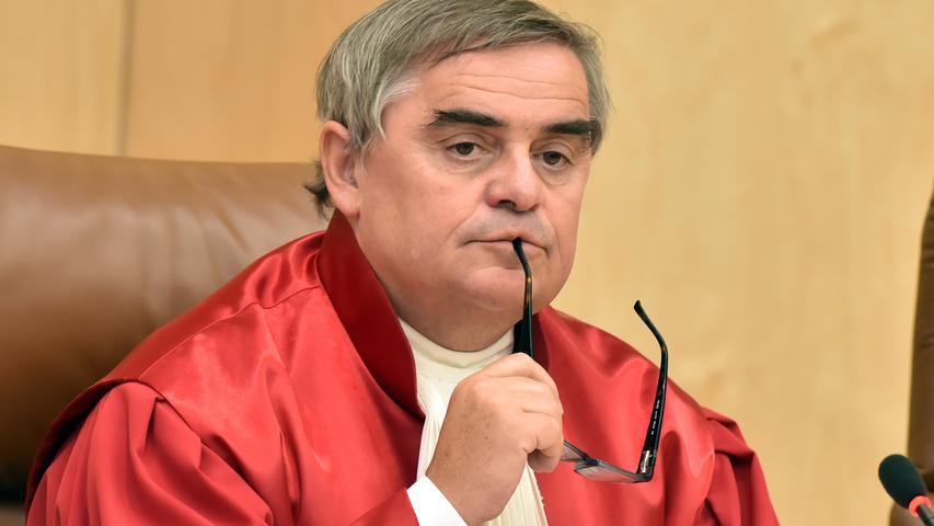 Peter Müller, Richter beim Zweiten Senat am Bundesverfassungsgericht in Karlsruhe, landet mit seiner Berufsgruppe auf Platz 7 (78 Prozent).