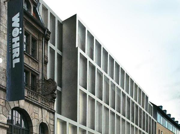 Diese Simulation aus dem Jahr 2016 zeigt, wie die Fassade des Neubaus eines Tages aussehen könnte.