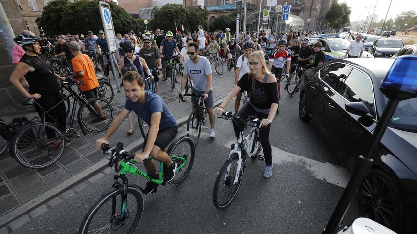 Critical Mass: Radler erobern Nürnbergs Straßen, 30.08.2019