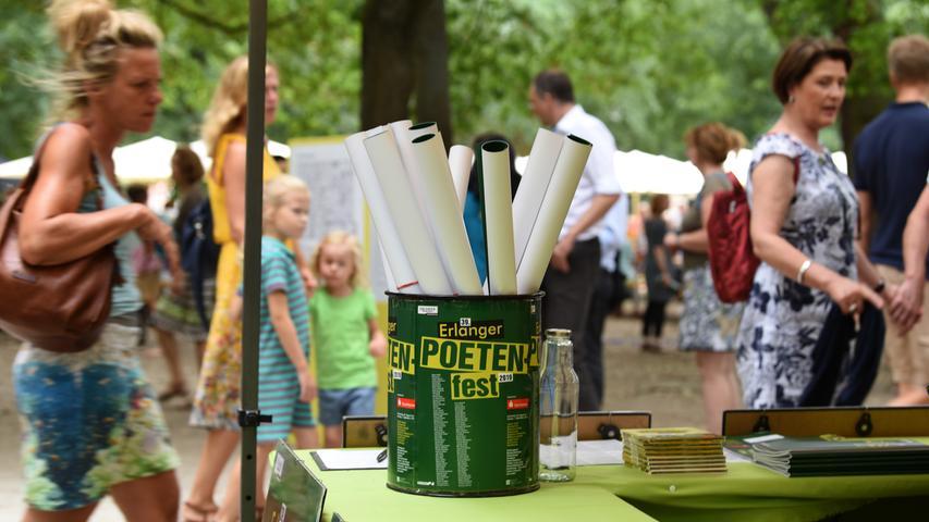 Poetenfest Erlangen 2019..Impressionen Schlosspark Teil II....Foto: Anja Hinterberger (pauschal)....01.09.2019....NN..Erlangen..Lokales