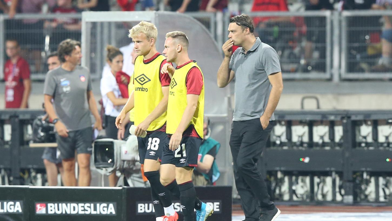 Simon Rhein (links) und Federico Palacios spielen in dieser Saison nicht mehr für den 1. FC Nürnberg.