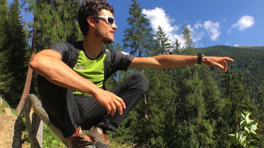 Bergführer Davide Pedergnana (31) gibt sich gerne cool, während der die Besonderheiten seiner Heimat erklärt.