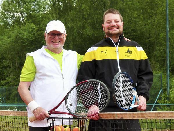 Rudolf Gaukler und Sebastian Gmelch (re.) trainieren zusammen.