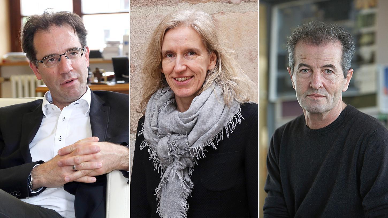 Die Experten: Nürnbergs Baureferent Daniel Ulrich, Architektin Susanne Klug vom Verein BauLust und der Landschaftsarchitekt Franz Hirschmann aus Nürnberg (v.l.).
