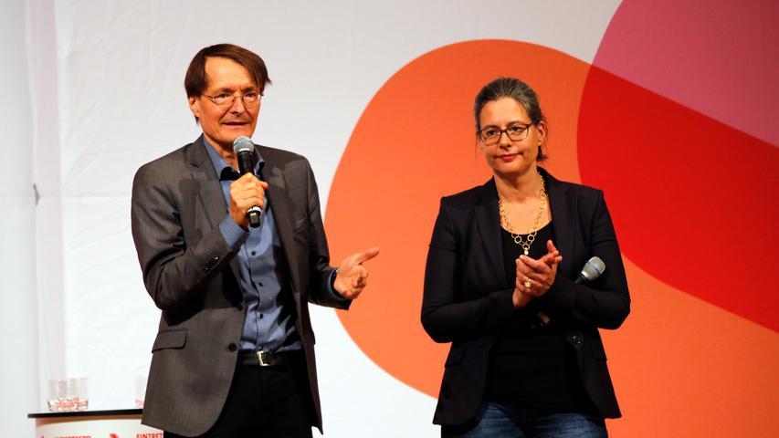 RESSORT: Lokales..DATUM: 05.10.18..FOTO: Michael Matejka ..MOTIV: SPD Kleine Meistersingerhalle /Nina Scheer und Karl Lauterbach..ANZAHL: 1 von x..