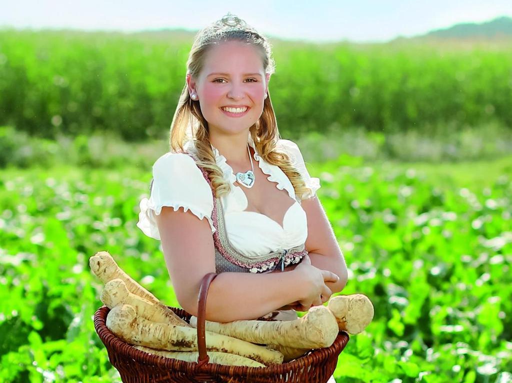 Theresa I. ist seit Freitagabend Bayerische Meerrettichkönigin und wird zwei Jahre lang das scharfe Gemüse im ganzen Land anpreisen.