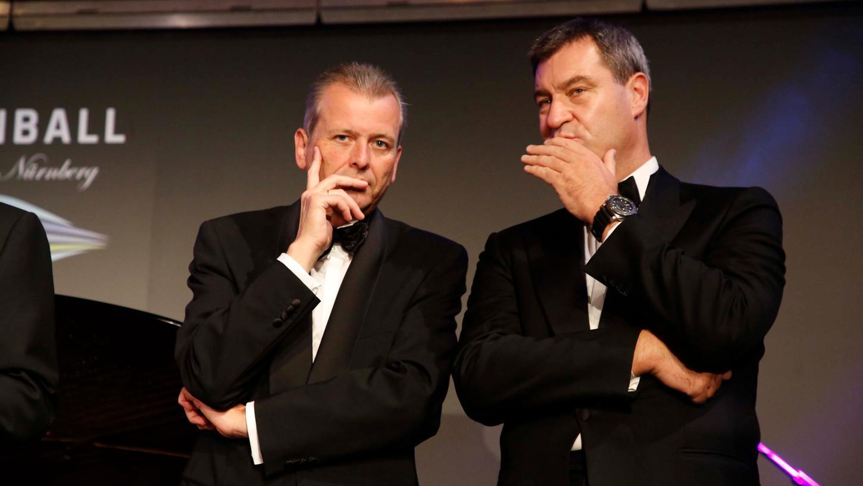 2017 waren Ulrich Maly (rechts) und Markus Söder das letzte Mal auf dem Opernball zu Gast.