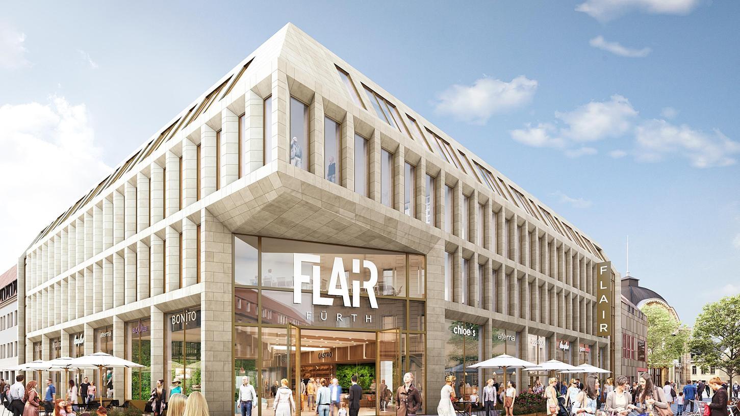 So soll die Ecke Hall-/Alexanderstraße bald aussehen: Das Erdgeschoss wird an dieser Stelle zu beiden Seiten für Gastronomiebetriebe reserviert.