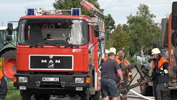 Heu und Stroh fingen Feuer - Brand in Geiselsberg