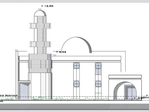 So - oder so ähnlich - soll die Moschee später einmal aussehen