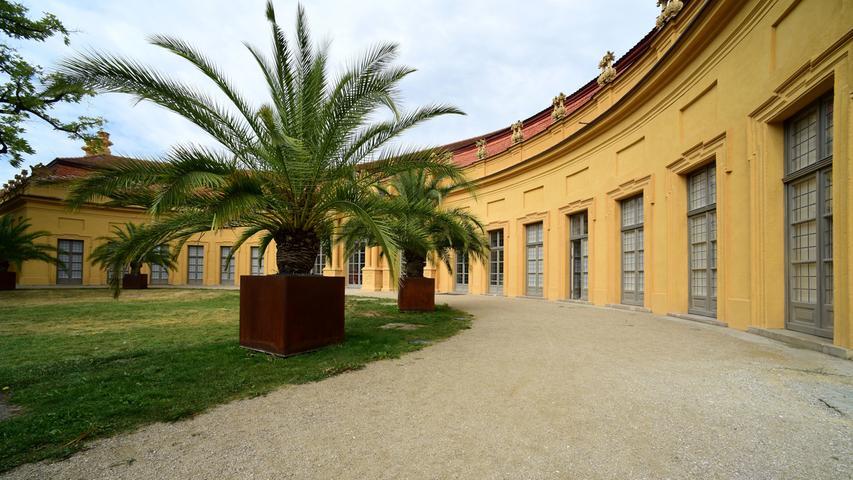 Mediterranes Flair: Die Orangerie im Schlossgarten.