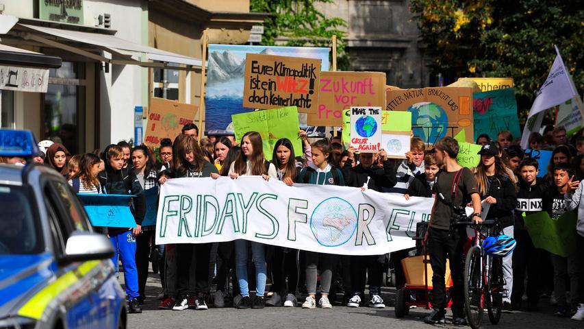 Forchheim Demonstration..Fridays for Future..in Forchheim..Foto Roland G.Huber
