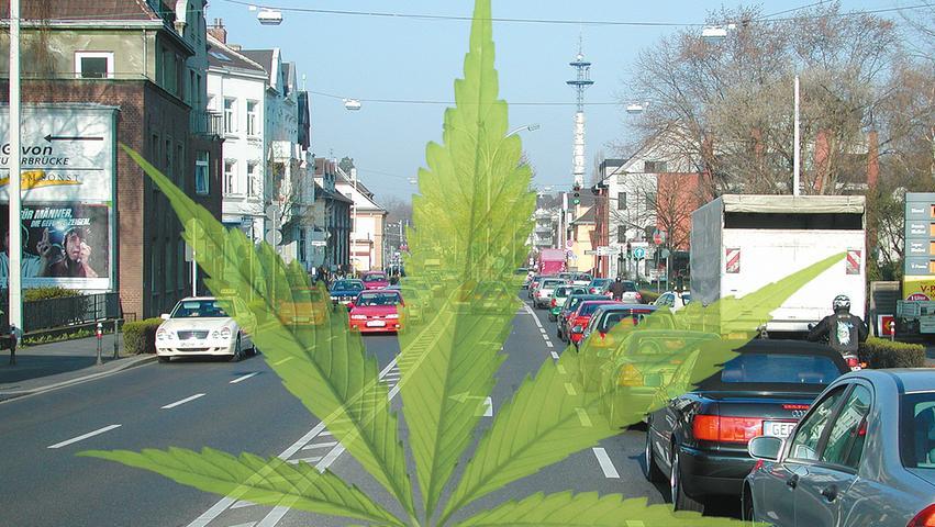 Wird sanktioniert: Autofahren unter Einfluss von Cannabis.