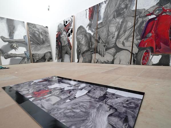 """Bruno Bradts """"Paule"""" ist nicht nur das größte Werk in der Verkaufs-Ausstellung, es ist auch das teuerste."""
