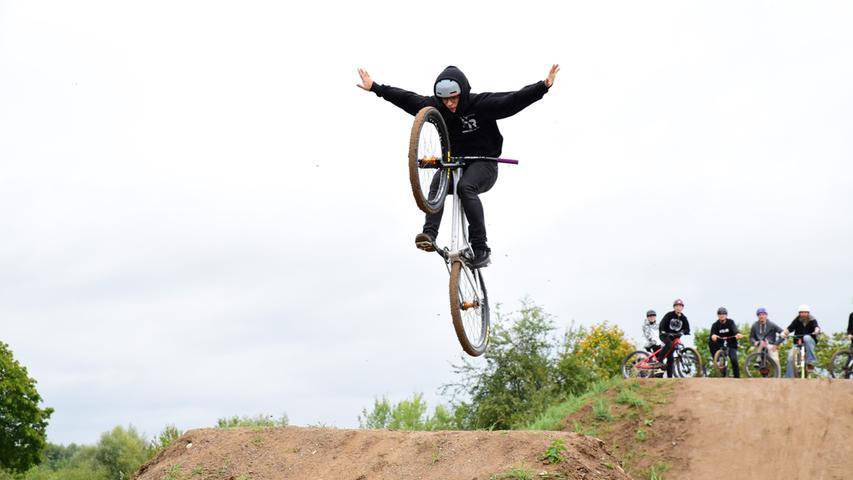 Hoch hinaus und quer in der Luft: Forchheims neuer Mountainbike-Park