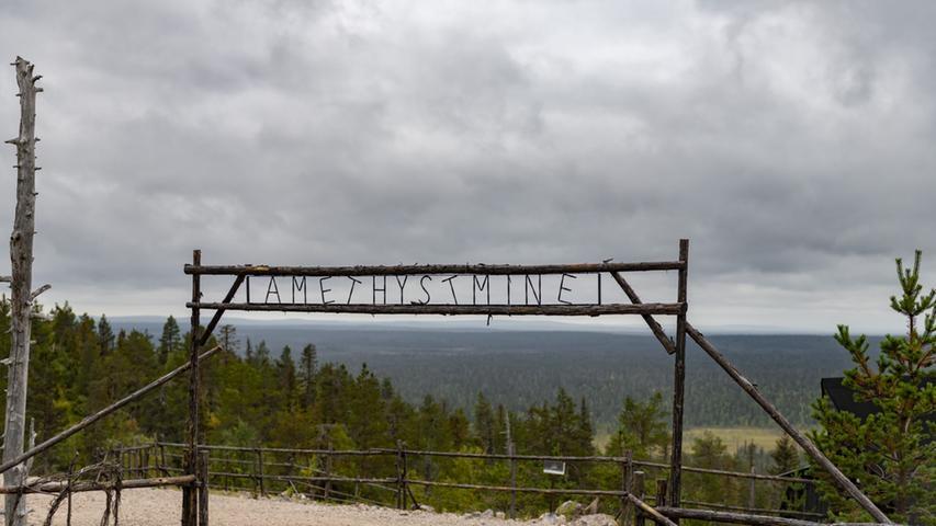 Auch ein Highlight im hohen Norden: Die Amethyst-Mine im Luosto-Nationalpark.