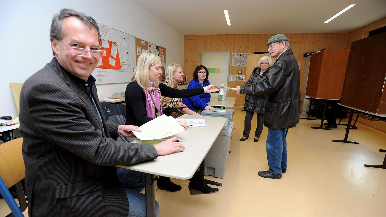 Zuletzt konnten die Fürther 2014 bei einer Kommunalwahl ihre Stimme abgeben - so wie hier in der Kiderlinschule.
