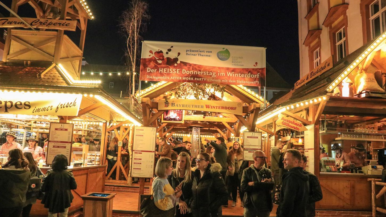 Seit dem 17. Oktober hat das Winterdorf in Bayreuth geöffnet.