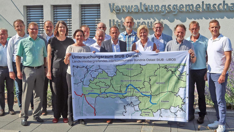 Im April 2018 schlossen sich insgesamt 14 Gemeinden aus den Landkreisen Erlangen-Höchstadt, Forchheim sowie die Stadt Erlangen zusammen, um den Ostast der Stadt-Umland-Bahn erneut untersuchen zu lassen.