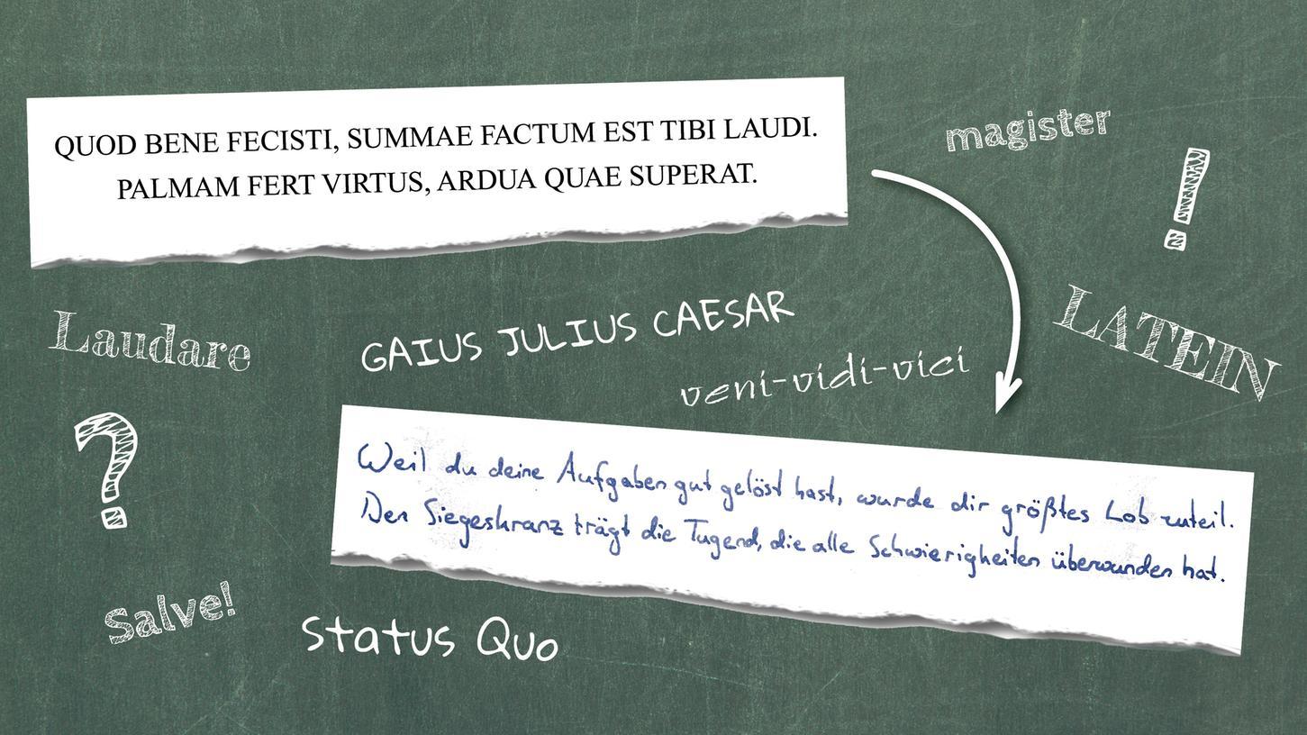 Jonathan Roller hat den Landeswettbewerb Alte Sprachen gewonnen. Der lateinische Text oben stand auf seiner Urkunde. Jonathan hat ihn für alle Nicht-Lateiner übersetzt.
