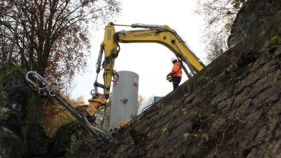 """Pottenstein: """"Langer Berg"""" wird stabilisiert - Pegnitz - Nordbayern.de"""
