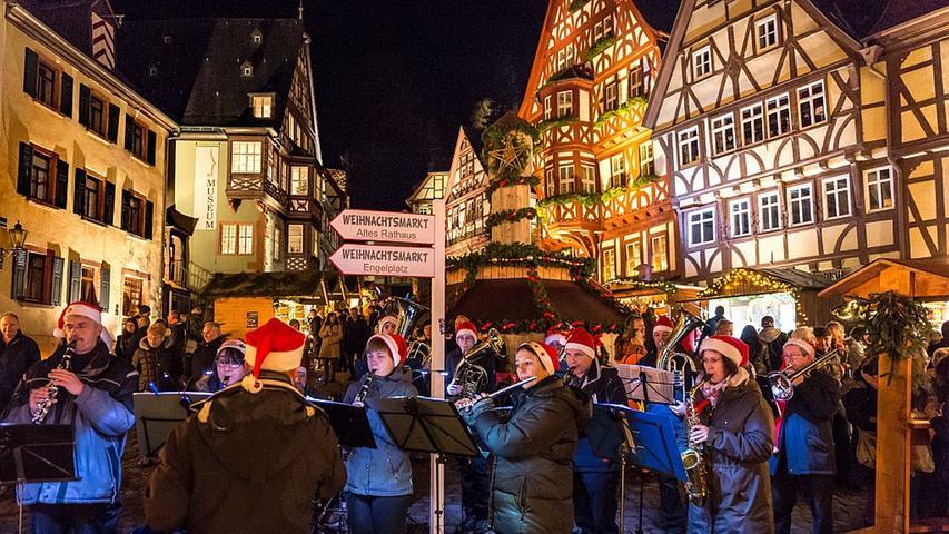 Der Weihnachtsmarkt in Miltenberg (Unterfranken) trägt den Namen