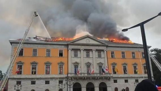 Großbrand im Rathaus der Bayreuther Partnerstadt Annecy - Nordbayern.de