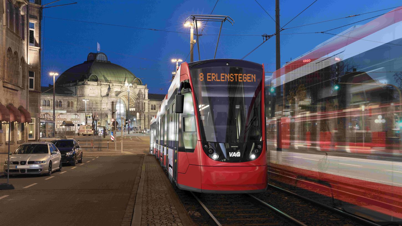 So sieht die Zukunft auf Nürnbergs Straßenbahnnetz aus: Mitte der 2030er Jahre will die VAG nur noch das neu gewählte Modell Avenio von Siemens einsetzen.
