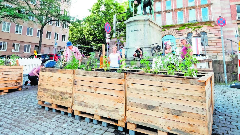 """Das Projekt """"Essbare Stadt"""" auf dem Egidienplatz und andere """"Urban-Gardening""""-Projekte sind nur ein Anfang. Jetzt will Bluepingu aufzeigen, wie jeder etwas für eine klimafreundlichere Welt tun kann."""