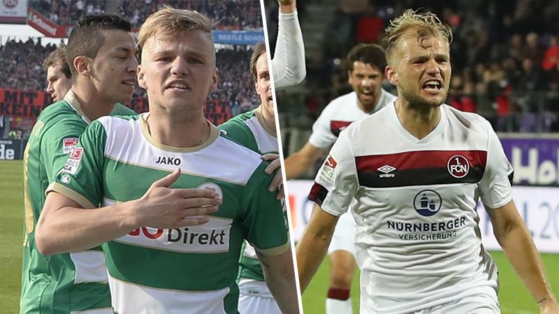 Früher Fürth, jetzt Club: Johannes Geis kennt sich damit aus, wie man im Derby trifft.