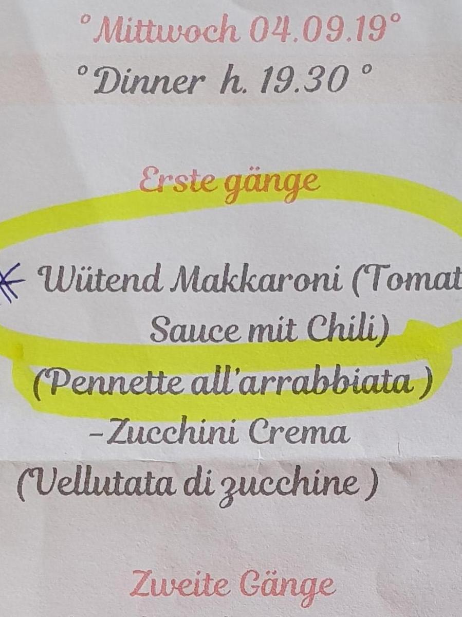 Gesehen von Heidrun Zimmermann aus Hersbruck in einem Hotelrestaurant in Giulianova an der italienischen Adria.