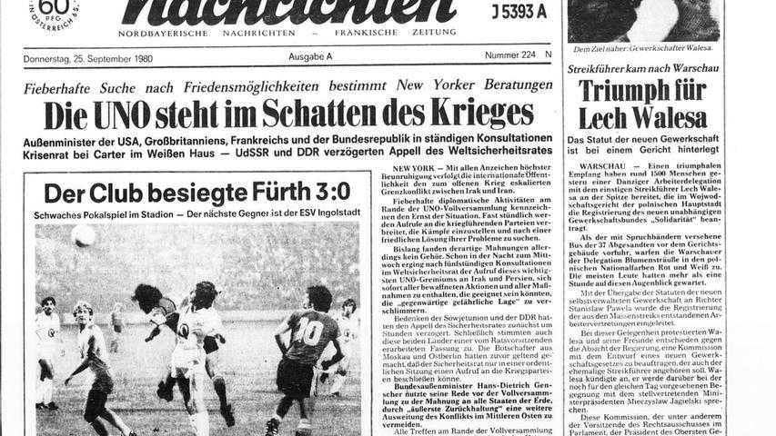 Historische Derbys: Ein Blick auf die Titelseiten der NN