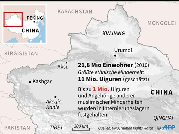 In China leben schätzungsweise zehn Millionen Uiguren, die meisten davon in der Region Xinjiang.
