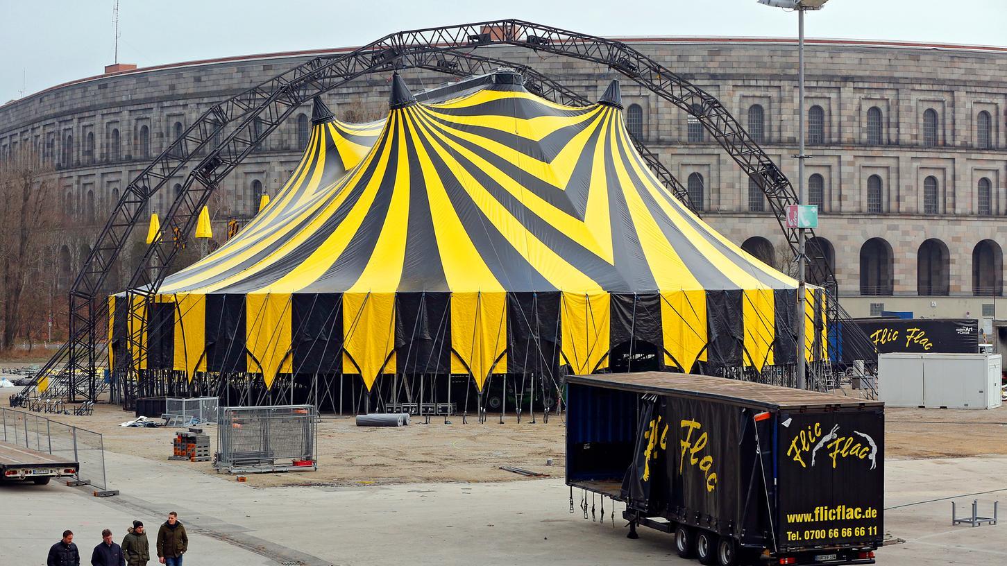 So wie Anfang Dezember 2019 soll es Ende dieses Jahres auch wieder am Volksfestplatz aussehen. Dann möchte der Zirkus Flic Flac seine Weihnachtsshow in Nürnberg präsentieren.