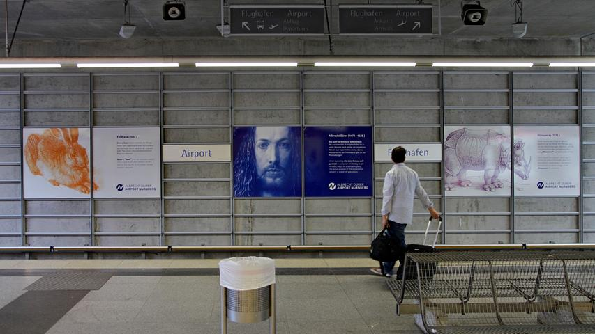 Die Verbindung zum Dürer Airport ist für viele Flugreisende ein Muss: 7200 Passagiere verlassen täglich am Flughafen die U-Bahnen oder steigen ein.
