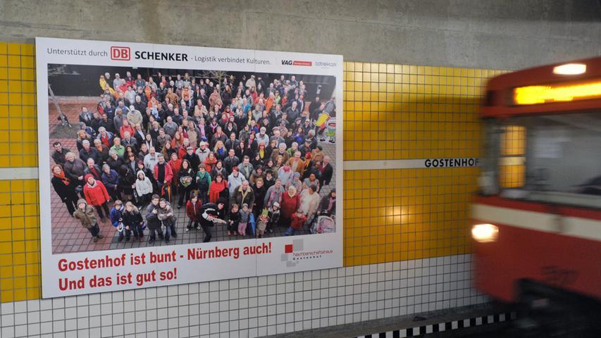 Der U-Bahnhof Gostenhof ist der 16. U-Bahnhof auf der U1. Er wurde am 20. September 1980 eröffnet. 14.700 Menschen verkehren dort im Durchschnitt.