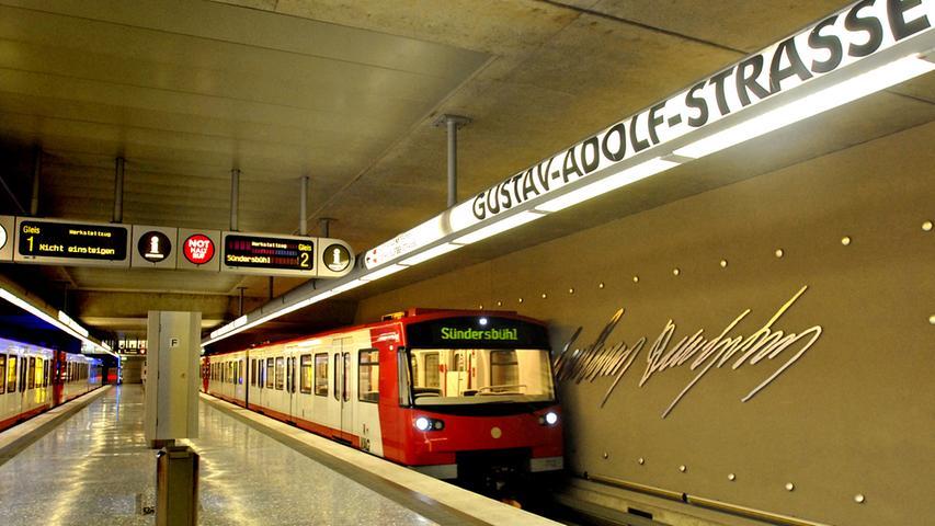 12.100 Fahrgäste pro Werktag: Die Gustav-Adolf-Straße ist übrigens nach dem Schwedenkönig Gustav Adolf II. benannt.